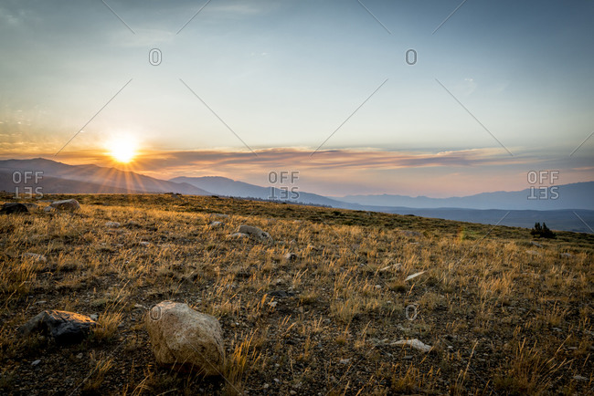 Sunset on the Dunderberg Plateau