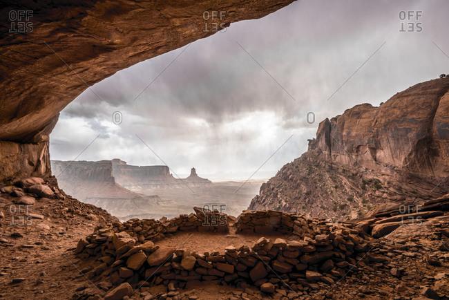 Rain outside the False Kiva