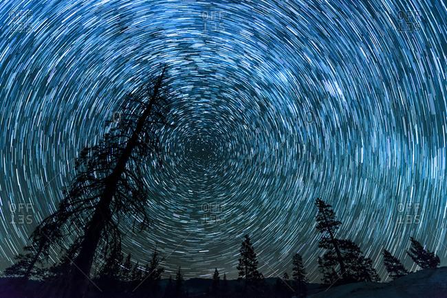 Star Trails over Utica Reservoir