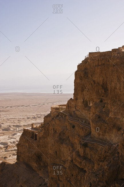 The ancient fort Masada in Israel