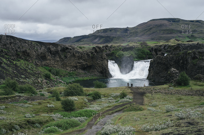 A double waterfall in Iceland