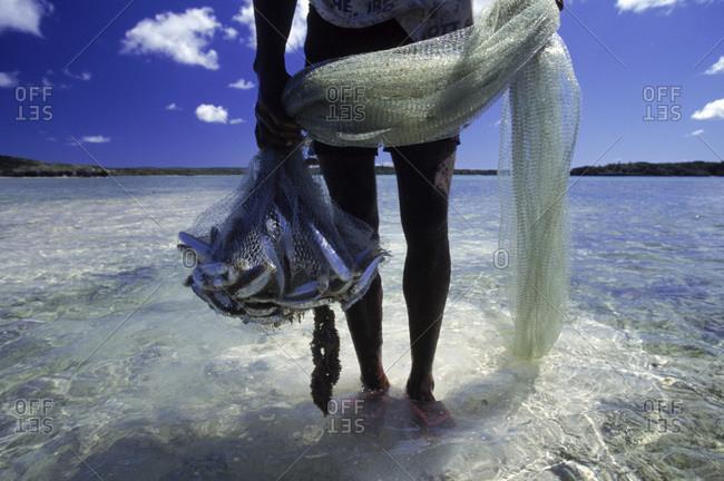 Fisherman on the Isle of Pines, New Caledonia