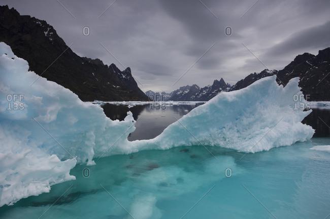 Icebergs at Torssuqaataq Fjord, near Nanortalik, Greenland