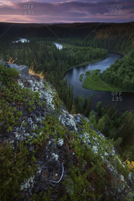 The Kitka River from Paahkananka Overlook in Oulanka National Park, Finland