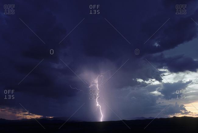 Thunderstorm over Sedona, Arizona - Offset