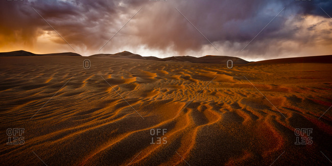 Sand formations in Great Sand Dunes National Park, Alamosa, USA