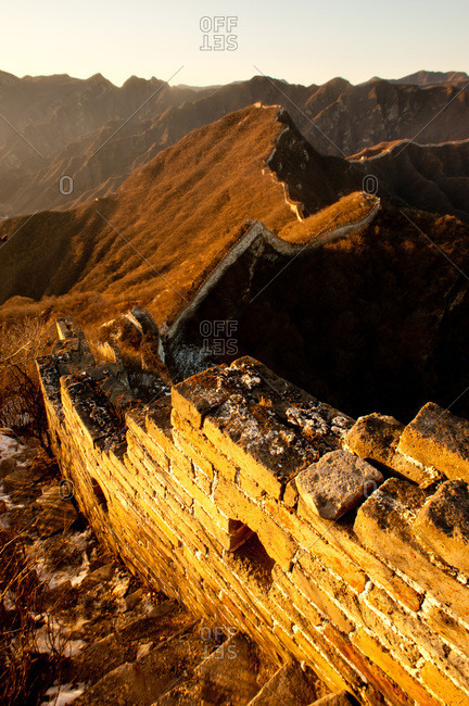 Unrestored section of the Great Wall of China