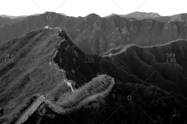 Original unrestored section of the Great Wall of China