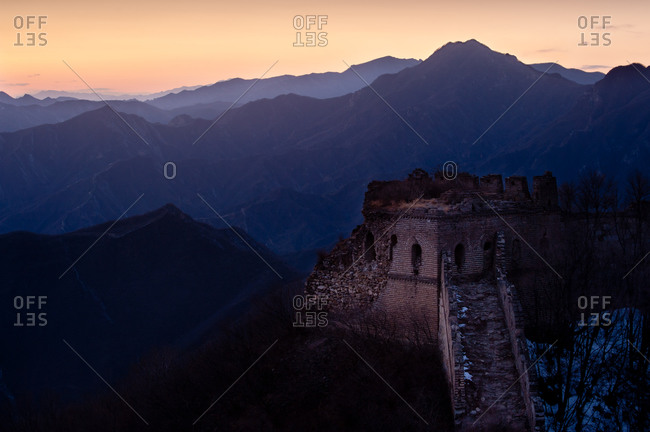 An original section of the Great Wall of China
