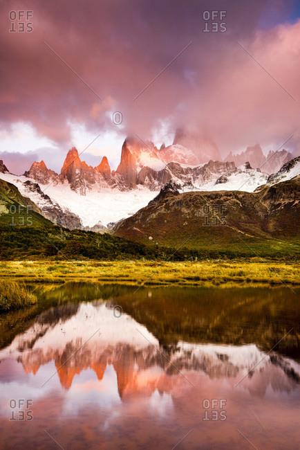 View of Mt. Fitz Roy in El Chalten, Patagonia, Argentina