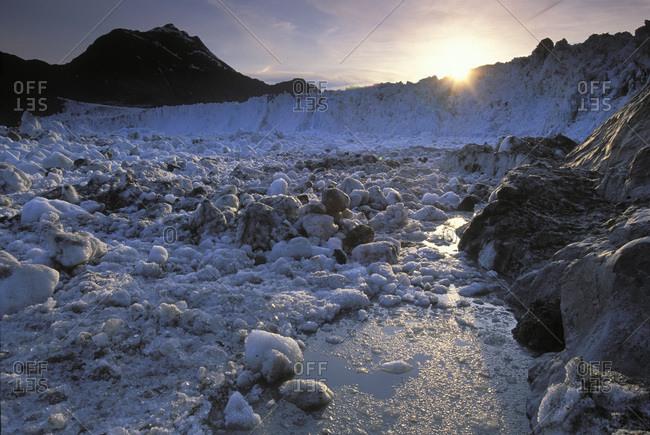 View of the Columbia Glacier in Alaska