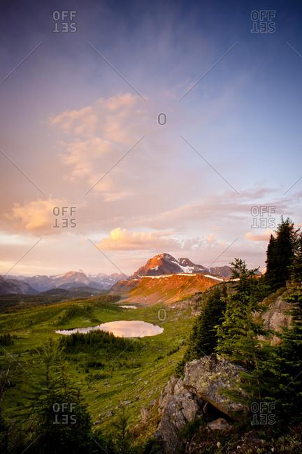 Mountain valley in Banff National Park, Alberta, Canada