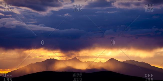 Rocky Mountains in Cuchara, Colorado, USA