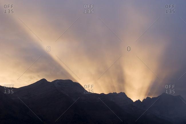 Sunset over Lizard Range, Fernie, British Columbia, Canada