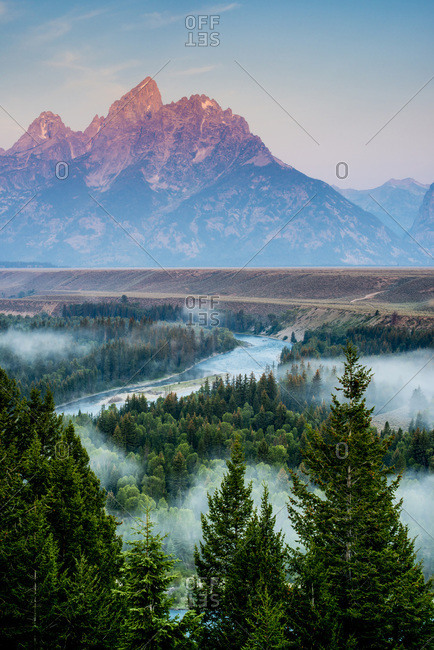View of Snake Rivers in Grand Teton National Park, Wyoming, USA