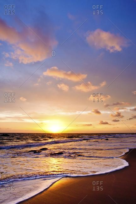 Sunset from Klong Khong Beach, Koh Lanta, Krabi, Thailand