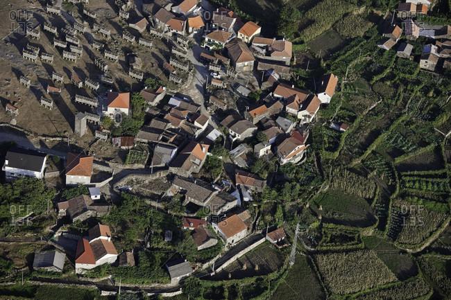 Aerial view of Lindoso, Peneda-Geres National Park