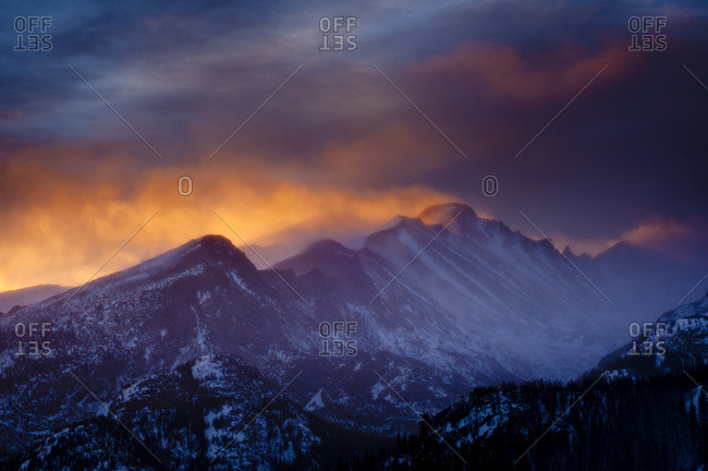 Long's Peak in Rocky Mountain National Park, Colorado