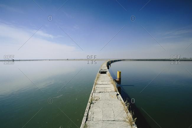 View of a lake at Texcoco, Mexico