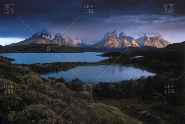 Sunrise at the Torres del Paine National Park, Chile