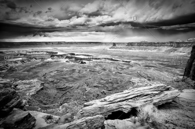 A storm over Canyonlands National Park, Utah, USA