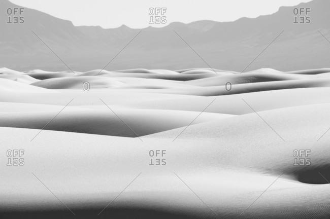 Sand dunes in White Sands National Park, Alamogordo, New Mexico, USA