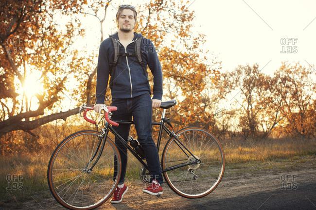 Portrait of a biker