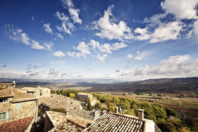 Landscape of rural village