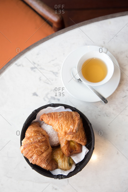 Croissants and tea from above