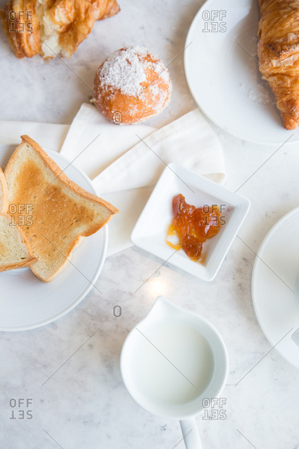 Breakfast pastries from above