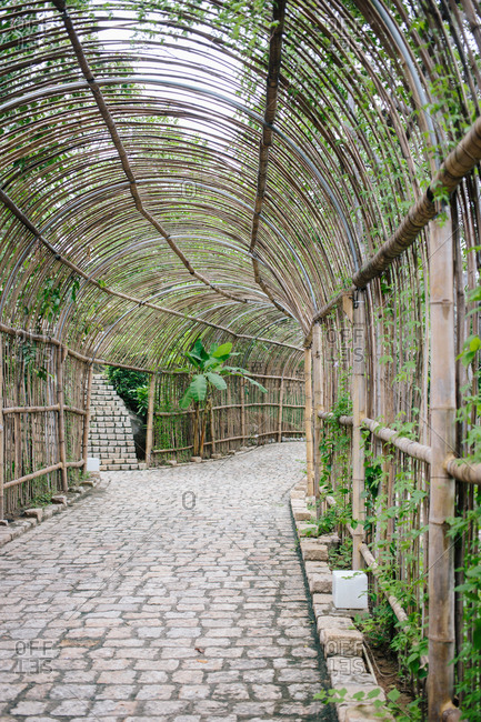 Covered arch over walkway
