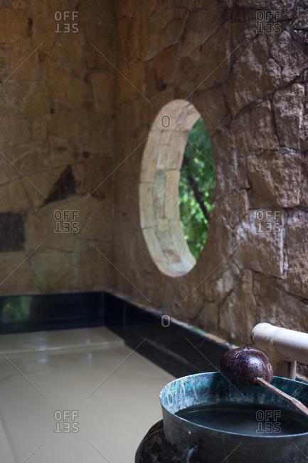 Resort corner spa area