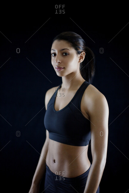 Woman in workout garments
