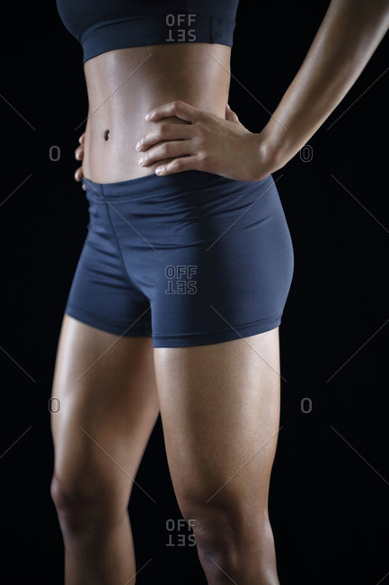Athletic woman in underwear