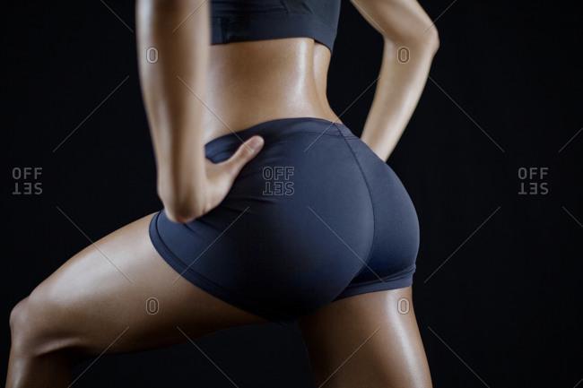 Woman in athletic underwear