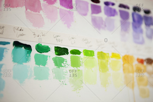 Paint color smears - Offset Collection