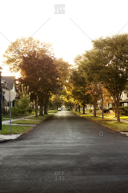 Quiet neighborhood street