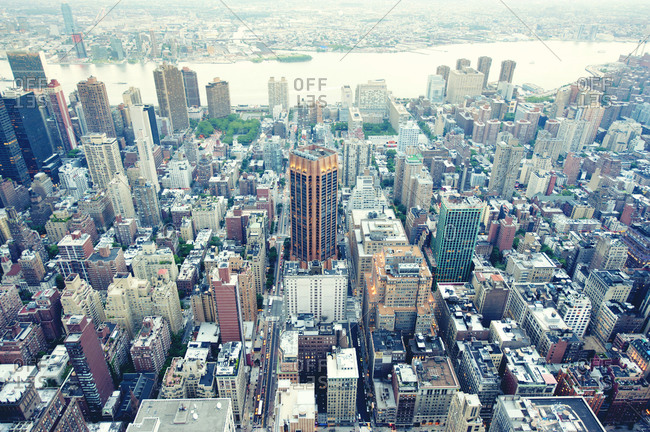 New York City seen from above