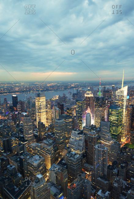 Manhattan seen from above