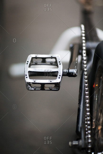 Close up of freestyle bike pedal