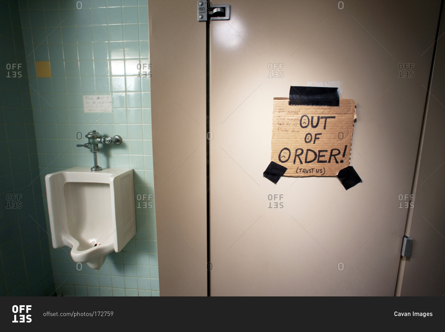 Bathroom Out Of Order an out of order bathroom stall stock photo - offset