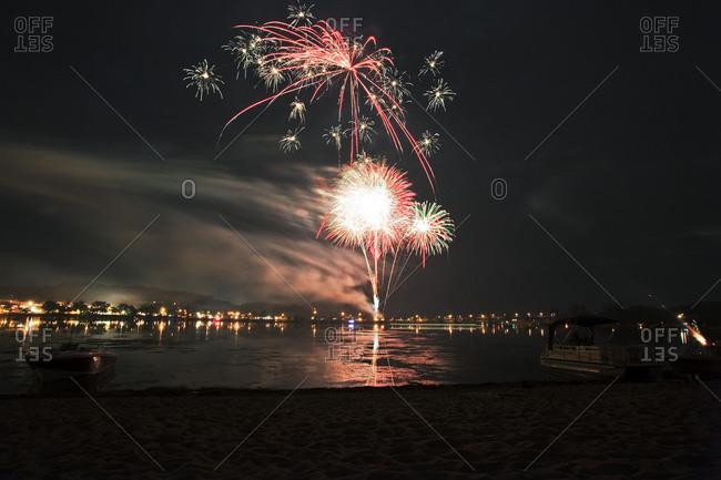 Fireworks over the Hudson River, Minnesota