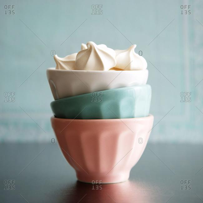 A cup of meringues