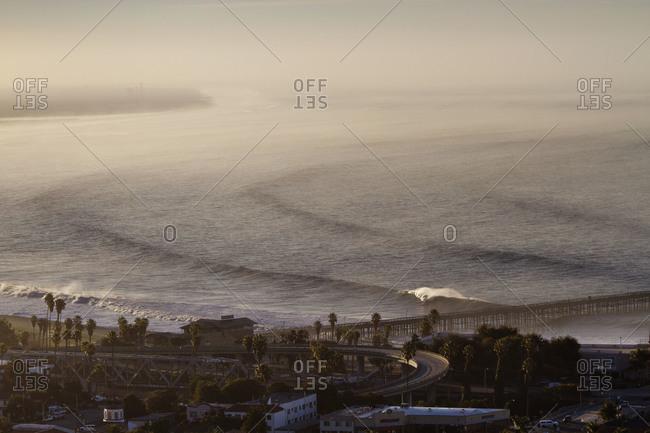 Waves coming in from ocean