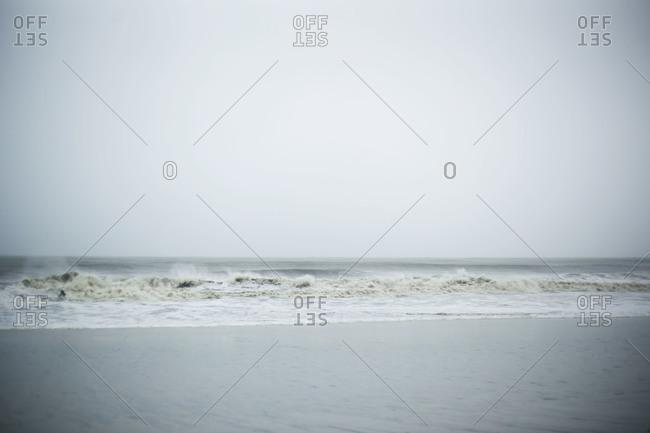Cold waves coming ashore
