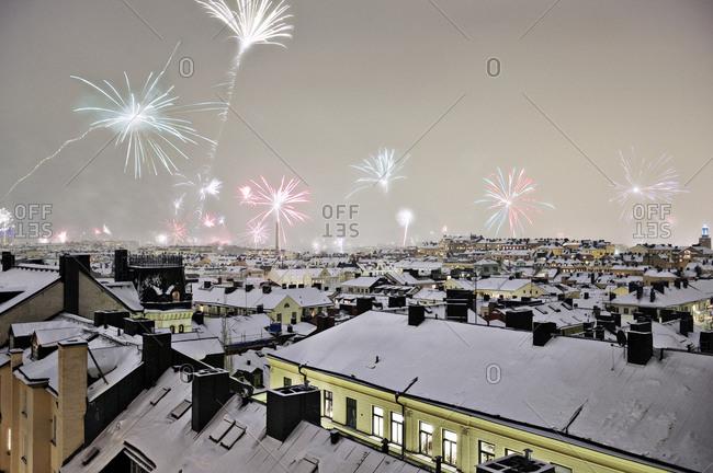 Fireworks over Stockholm, Sweden