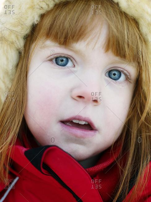 Portrait of a redhead girl