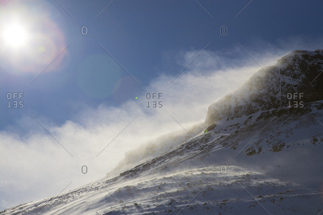 Snowy mountain in Sweden
