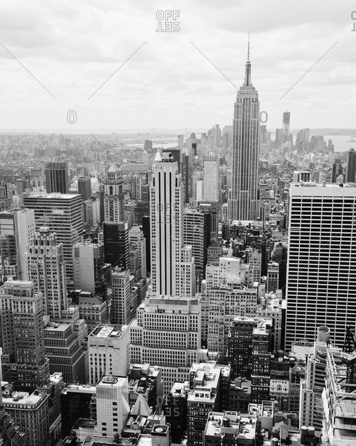 Cityscape of Manhattan in New York City, USA