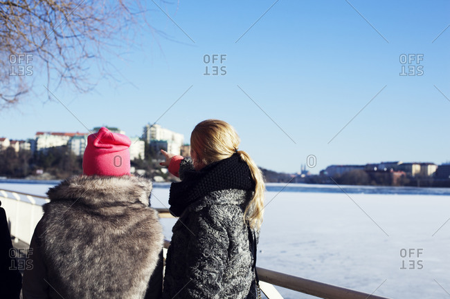 Two young women in Stockholm, Sweden